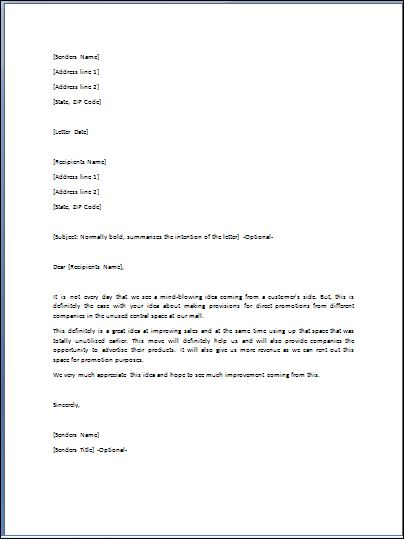 sample admiration letter template