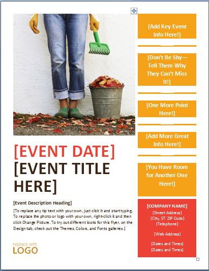 Generic Seasonal Event Flyer Template | Formal Word Templates