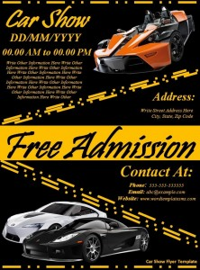 Car Show Flyer Template - Car show flyer background
