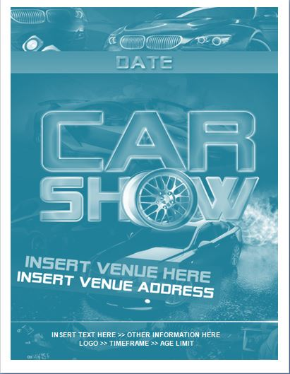 Sample Car Show Flyer Template Formal Word Templates - Car show flyer template word
