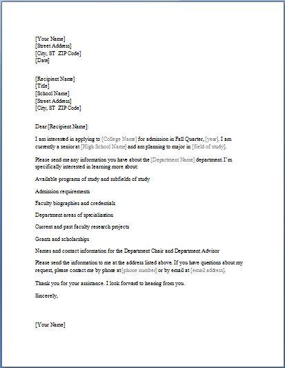 College admission information requesting letter template formal college admission information requesting letter spiritdancerdesigns Images