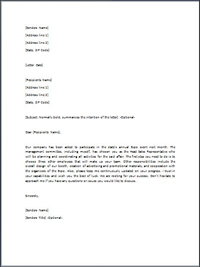 sample directive letter template