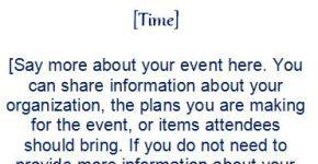 Event Invitation Template (4 Per Page)