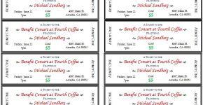 Generic Event Ticket Templates