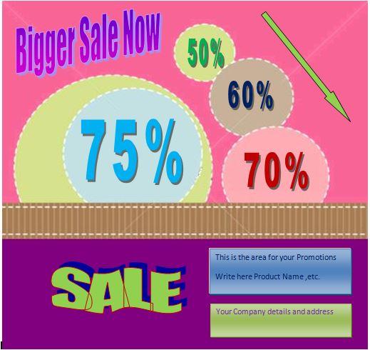 word sale flyer