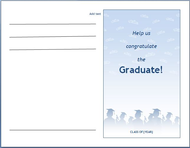 ms word graduation party invitation template