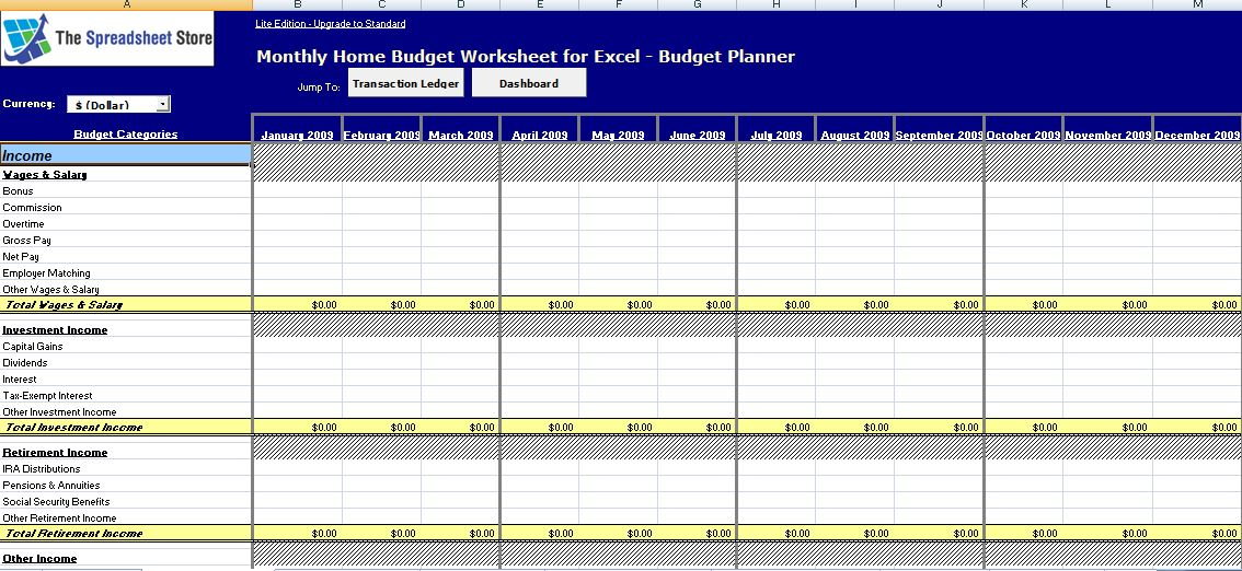 Printable Worksheets budgeting worksheets for highschool students : MS Excel Monthly Home Budget Worksheet | Formal Word Templates