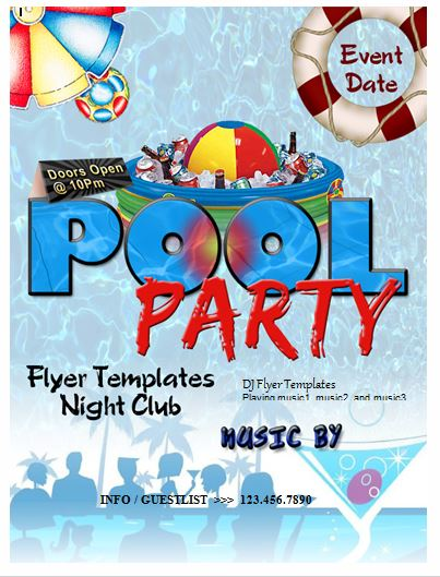 Generic Party Flyer Template Formal Word Templates
