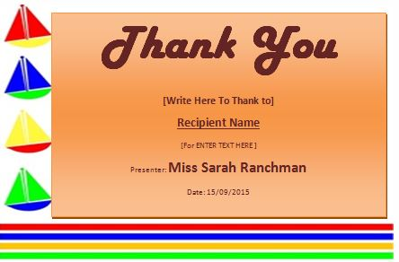 MS Word Thank You Certificate Template Formal Templates