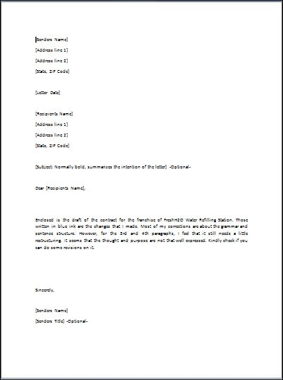 Sample Transmittal Letter Template | Formal Word Templates