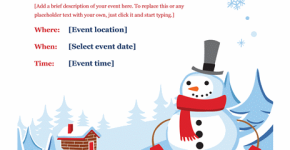 Sample Winter Party Flyer Template