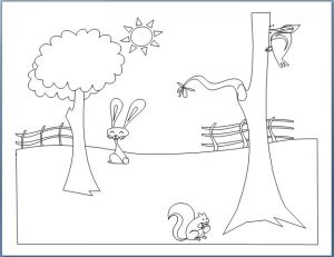 Farm Animals Coloring Book Template-8pages
