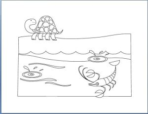 Aquatic Animals Coloring Book Template-8pages