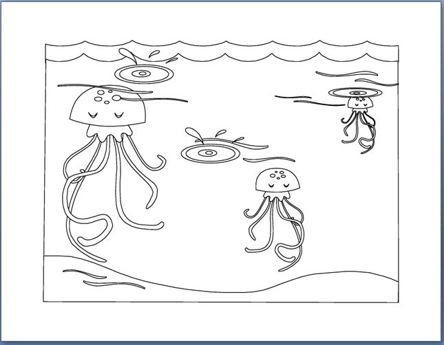 Coloring Pages Of Aquatic Animals : Aquatic animals coloring pages