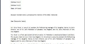 Celebration Letter