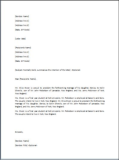 Sample Celebration Letter Template