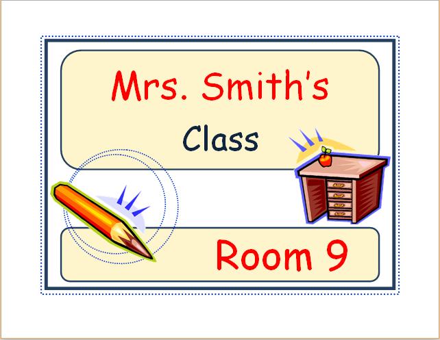classroom door sign template