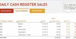 Daily Sales Report Template