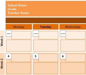 Monthly Event Scheduling Calendar Template