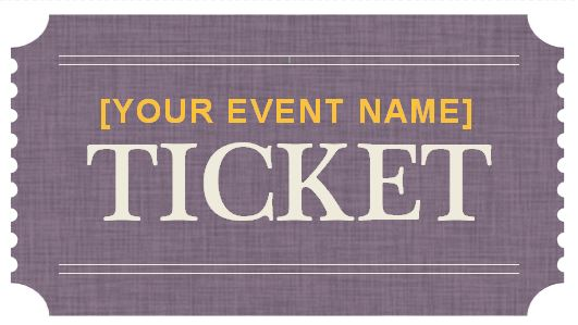 Generic Event Ticket Templates  Event Ticket Template