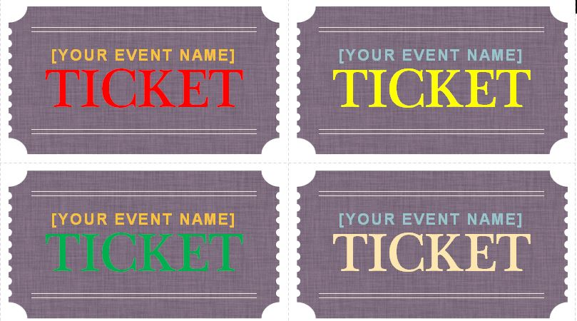 generic event ticket templates formal word templates