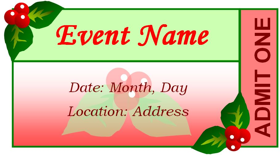 Generic Event Ticket Templates