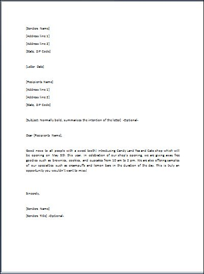 Sample Ready To Use Gift Letter Template | Formal Word Templates
