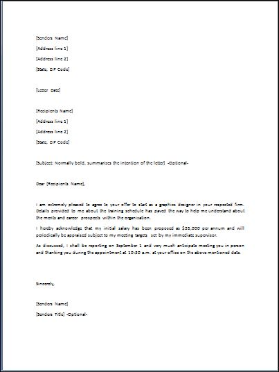 Job Offer Letter Template Word from wordtemplatesbundle.com