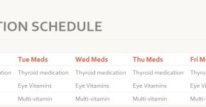 Medication Schedule Template