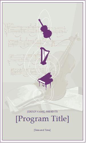music event program invitation template