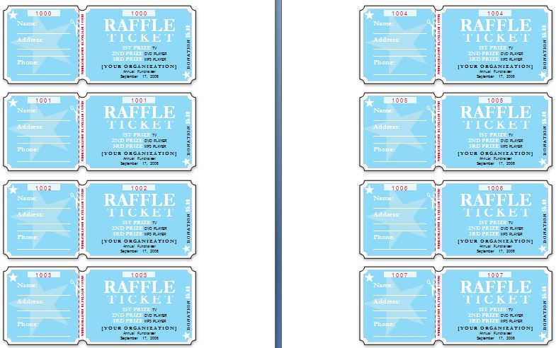 Sample Raffle Ticket Templates – Sample Ticket Template