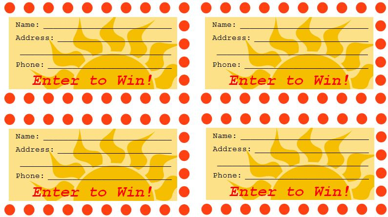 Sample Raffle Ticket Templates | Formal Word Templates
