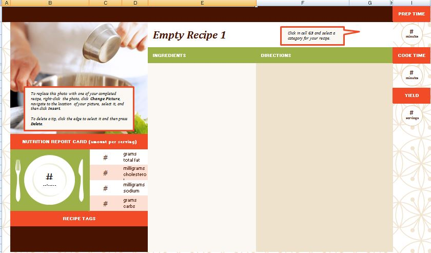Family Recipe Tracker Template
