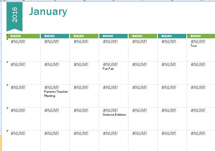 2015-2016 School Calendar Template | Formal Word Templates