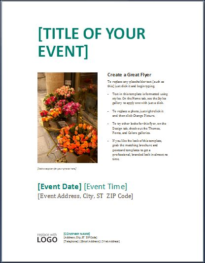 Sample Business Event Poster