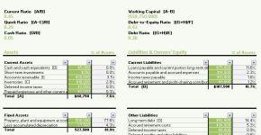 Calculating Ratios Balance Sheet