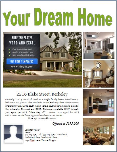 sample real estate poster template