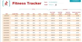 Fitness and Weight Measurement Tracker