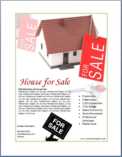Sample real estate poster template formal word templates for Poster prints for sale
