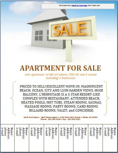 Sample Real Estate Poster Template Formal Word Templates . For Sale ...  For Sale Poster Template