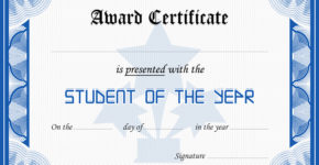 Student Award Certificate for MS Word