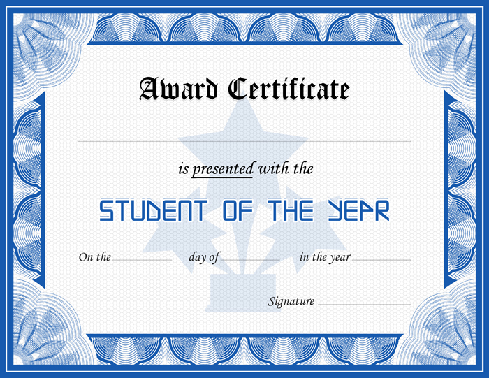 Student award certificate template formal word templates for Student certificate templates for word