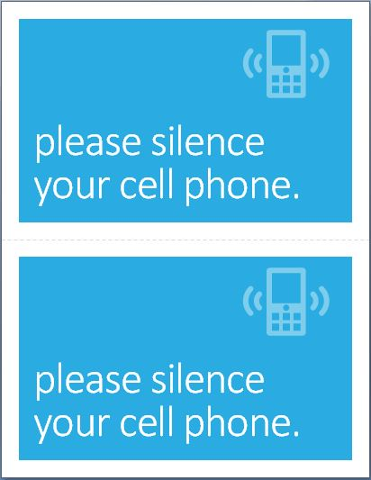 Turn off Cell Phone Poster