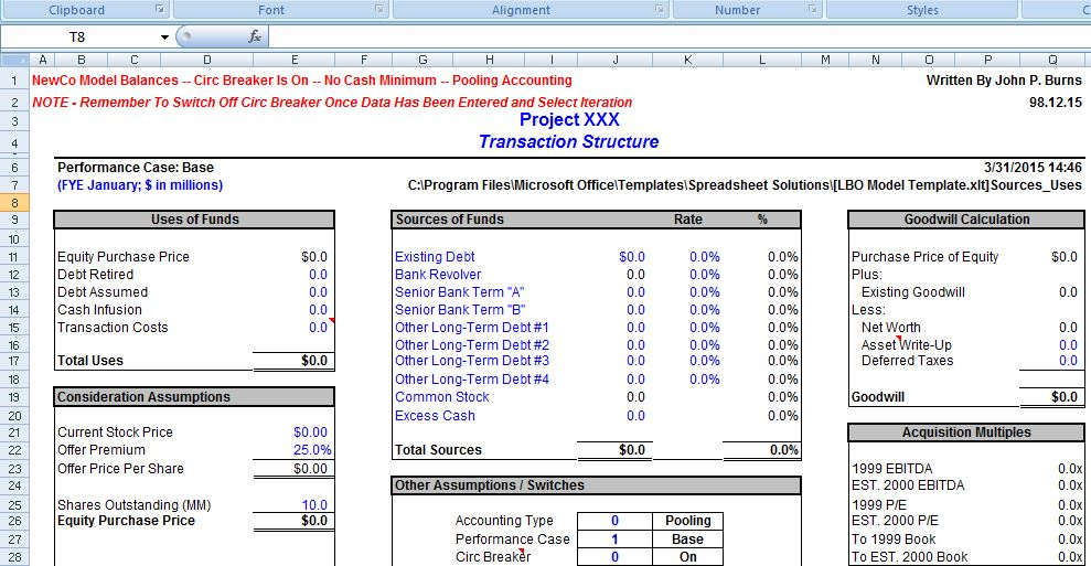 Financial Business Plan Template