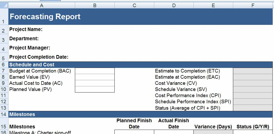 Business Forecasting Report Template