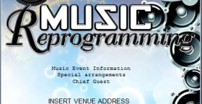 MS Word Music Party Flyer