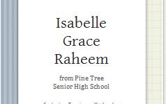 graduation announcement card template