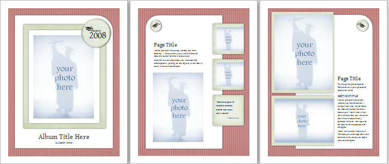 MS Word Graduation Photo Album Template – Template for Photo Album