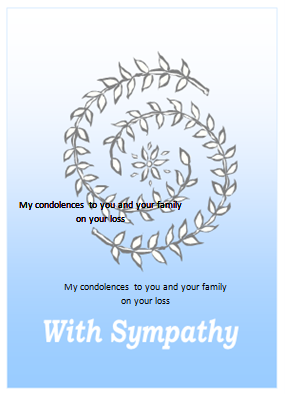 Sympathy Card Template For Ms Word Formal Word Templates .  Condolence Template
