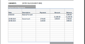 billing statement invoice template